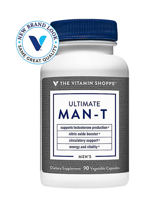 Ultimate Testosterone for Men - Boosts Nitric Oxide (90 Vegetarian Capsules)