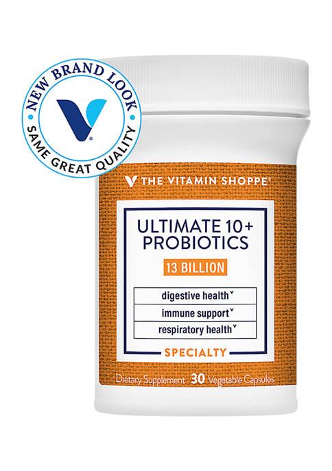Ultimate 10+ Probiotics - 13 Billion CFUs (30 Vegetable Capsules)