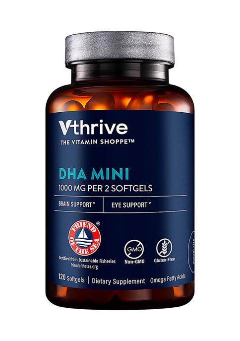 DHA Mini - Omega Fatty Acids for Brain & Eye Support - 1,000 MG (120 Softgels)