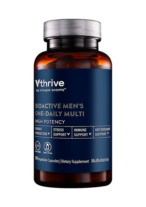 Bioactive Multivitamin for Men - Once Daily - Supports Stress, Healthy Aging (60 Vegetarian Capsules)