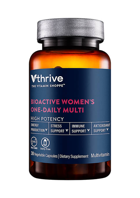 Bioactive Multivitamin for Women - Once Daily - Supports Stress, Healthy Aging (30 Vegetarian Capsules)