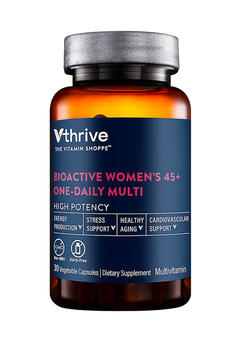 Bioactive Multivitamin for Women 45+ Once Daily - Supports Stress, Healthy Aging (30 Vegetarian Capsules)