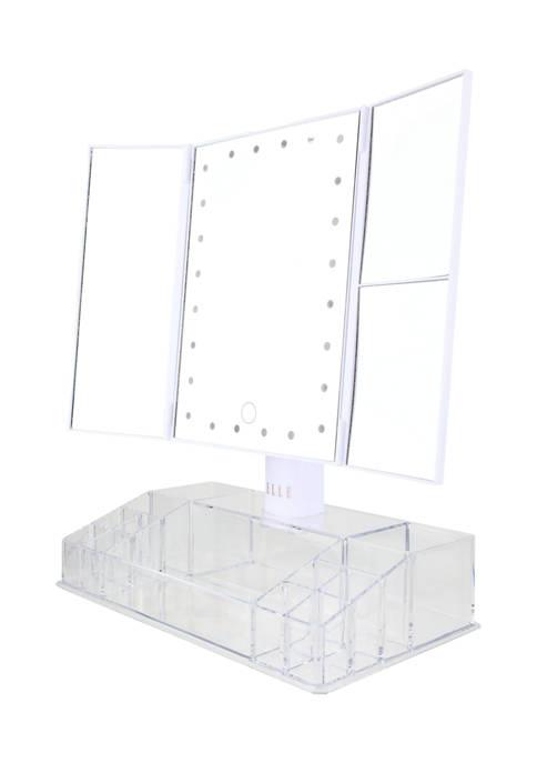 Elle Tri-Fold LED Light Up Vanity Mirror