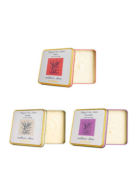 Three 6 Ounce Set Rose, Vanilla, and Lavender Scent