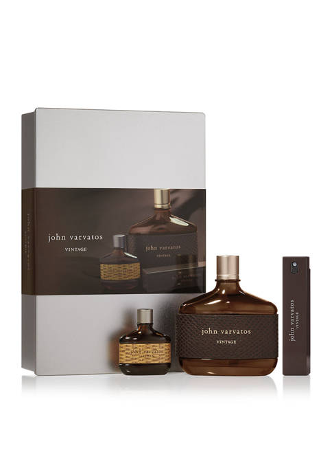 Vintage 3 Piece Fragrance Gift Set, Cologne for men