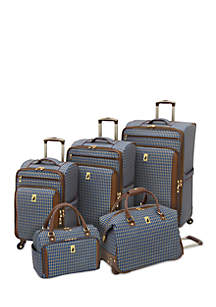 London Fog® Kensington 360 Ultra Light Expandable Spinner Luggage Collection - Blue Tan Plaid