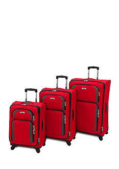 Leisure Superlight Spinner Luggage Collection - Red