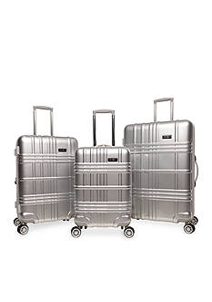 Jessica Simpson Jewel Plaid Hardside Luggage Collection - Silver