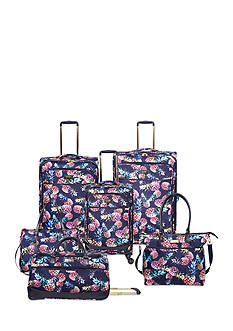 Jessica Simpson Pineapple Print Luggage