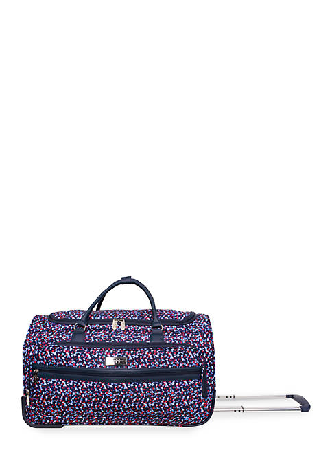 Jessica Simpson Floral Freedom Rolling Duffel