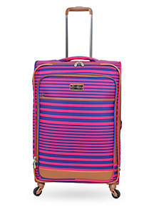 Breeze Pink/Navy Stripe Luggage Collection