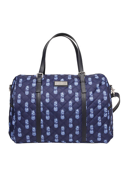 Jessica Simpson Quilted Pineapple Weekender
