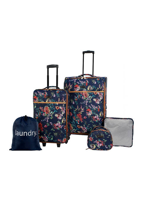 Jessica Simpson French Floral 5-Piece Luggage Set