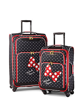 190e2db7a3a4 American Tourister Disney Minnie Mouse Red Bow Softside Spinner Set