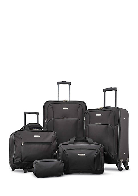 American Tourister Five-Piece Spinner Luggage Set