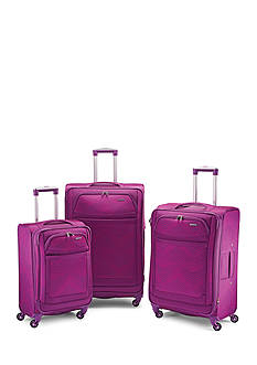 American Tourister Ilite Max Spinner -Pink/Purple Stripes