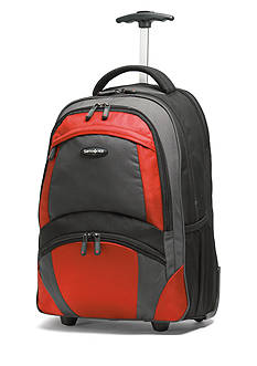 Samsonite® 19-in. Wheeled Backpack - Black/Orange