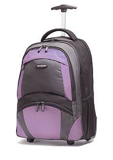 Samsonite® 19-in. Wheeled Backpack - Black/Bordeaux