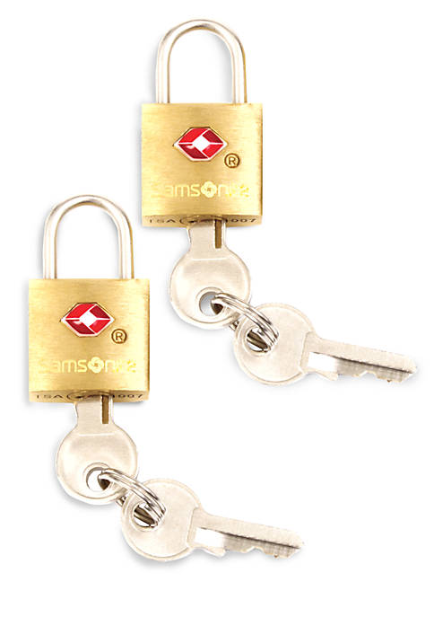 2 Pack Brass TSA Locks