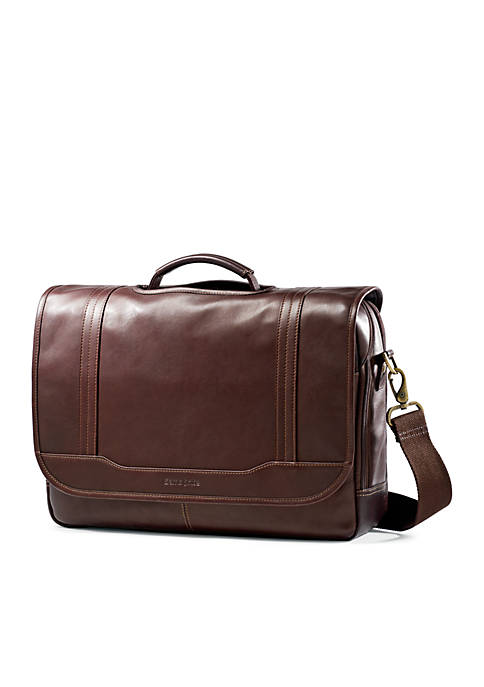Samsonite® Durham Colombian Flapover Leather Briefcase