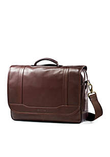 Durham Colombian Flapover Leather Briefcase
