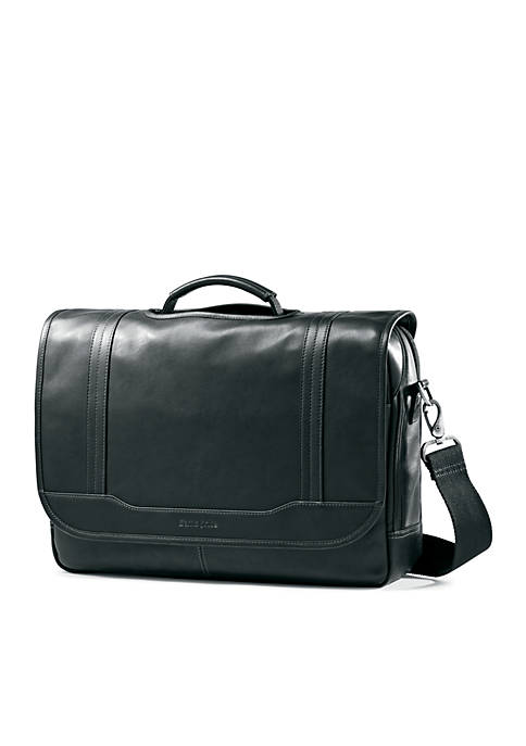 Columbian Leather Flap Over Brief Case