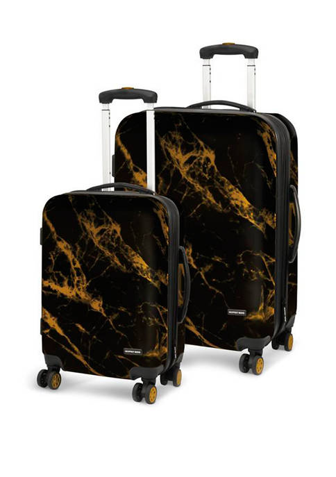 Geoffrey Beene Deep Marble 2 Piece Luggage Set