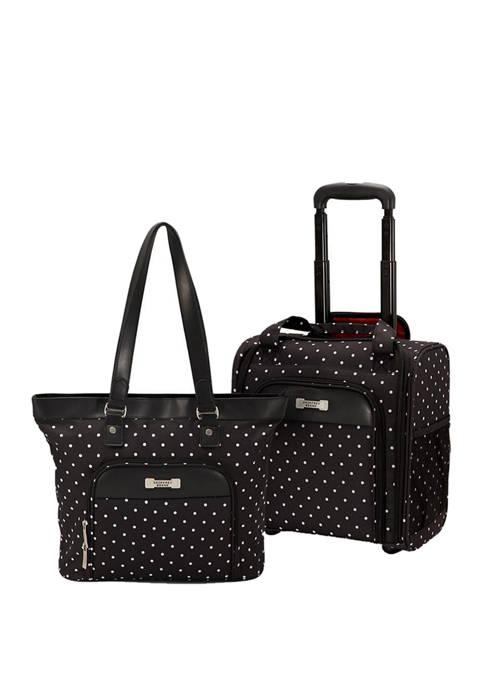 Geoffrey Beene Fashon Dot 2 Piece Underseater Luggage