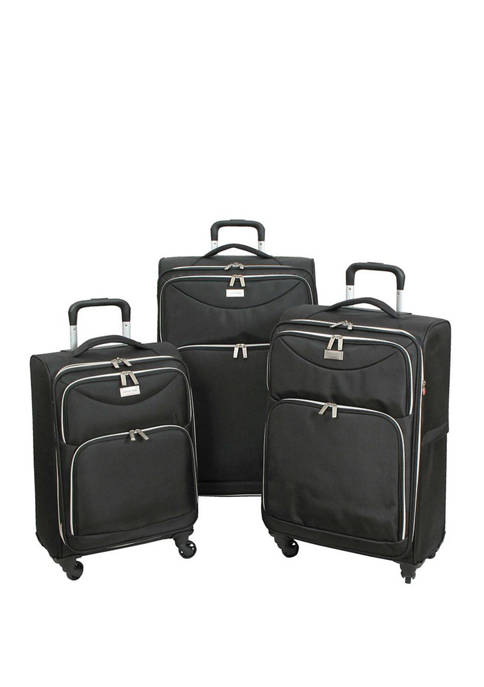 Geoffrey Beene Ultra Light-Weight Midnight 3 Piece Luggage