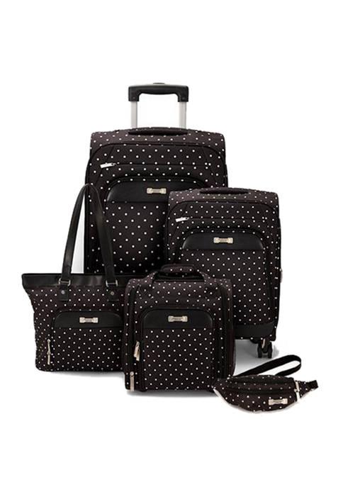 Geoffrey Beene Fashion Dot 5-Piece Luggage Set