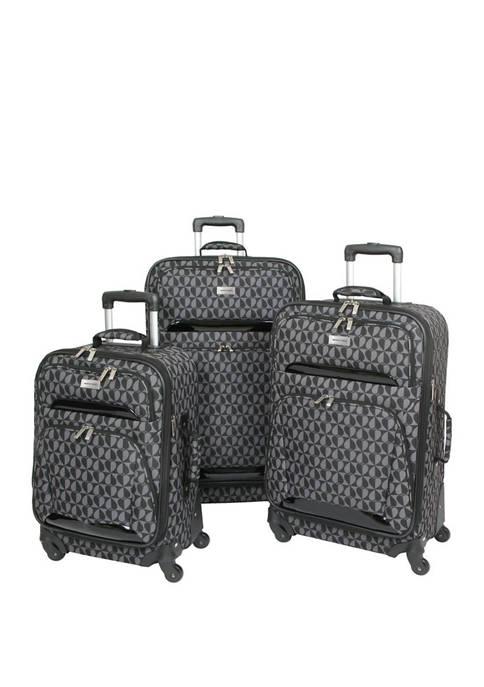 Geoffrey Beene Hearts Fashion 3-Piece Luggage Set