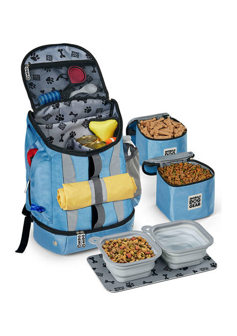Mobile Dog Gear Drop Bottom Weekender Backpack