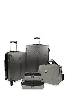 U.S. Traveler Skyscraper 5-piece Hardside Spinner Set - Iron Grey