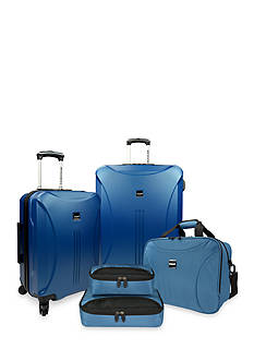 U.S. Traveler Skyscraper 5-piece Hardside Spinner Set - Steel Blue
