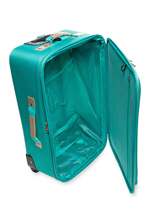 New Directions® 5-Piece Turquoise with Gold Trim Luggage Set | belk