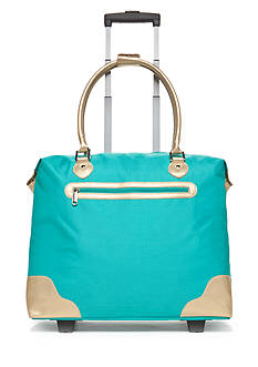 New Directions® Turquoise Tote Bag with Gold Trim
