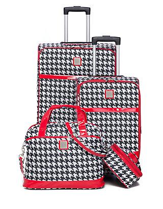 80bab04b New Directions® Jet Set Spinner 4-Piece Houndstooth Luggage Set | belk