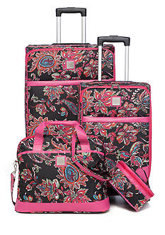 New Directions® Jet Set Spinner 4-Piece Multi Paisley Luggage Set