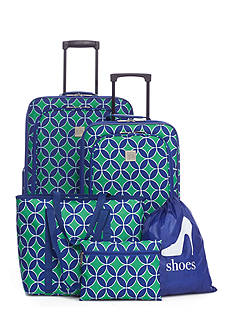 New Directions® 5-Piece Diamond Medallion Luggage Set