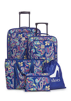 New Directions® 5-Piece Global Paisley Luggage Set