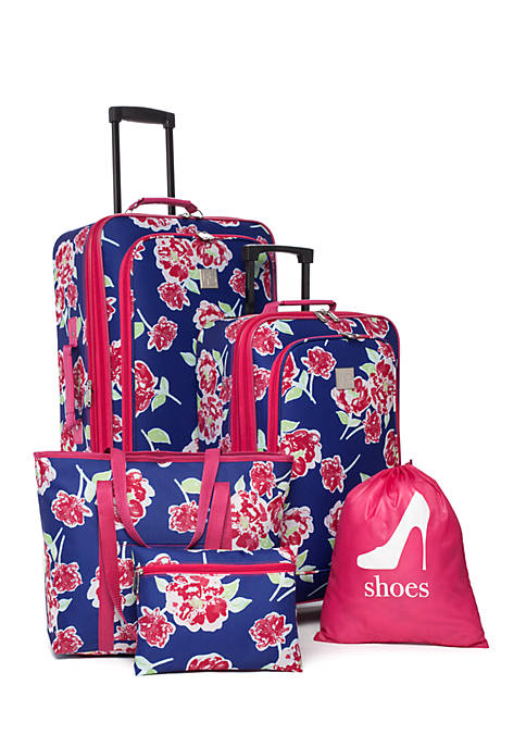 New Directions® 5-pc. Sophie Floral w/ Pink Trim