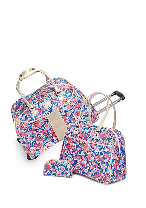 New Directions® 3-Piece Floral Cruise Luggage Set