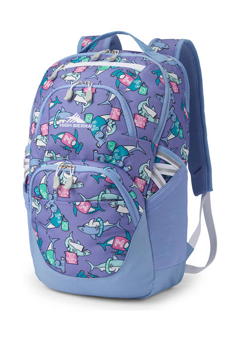 High Sierra Swoop SG Purple Sharks Backpack