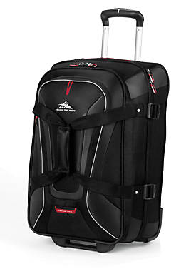 Adventure Travel 7Carry On Wheeled Duffel - Black - 14-in. x 22-in.  x 9-in.