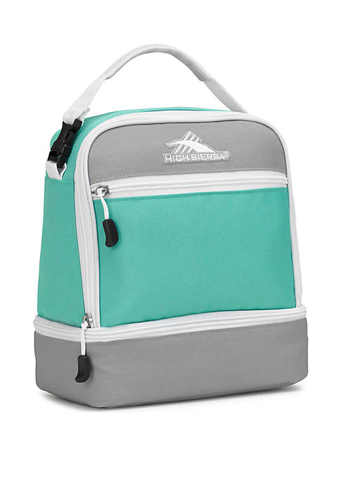 Aqua Stacked Compartment Lunch Bag