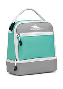High Sierra Aqua Stacked Compartment Lunch Bag