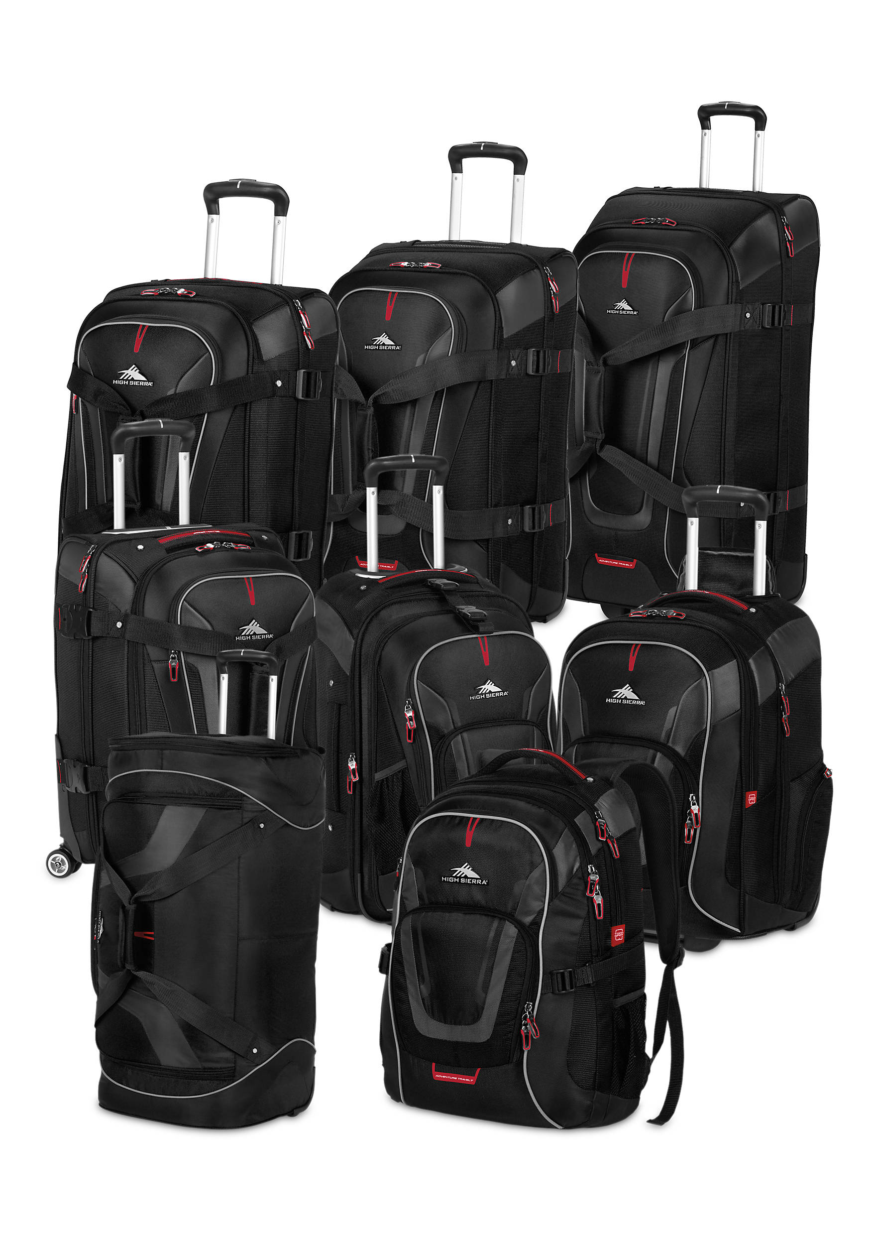 ... High Sierra Adventure Travel 7 Luggage Collection - Black c01de724160db