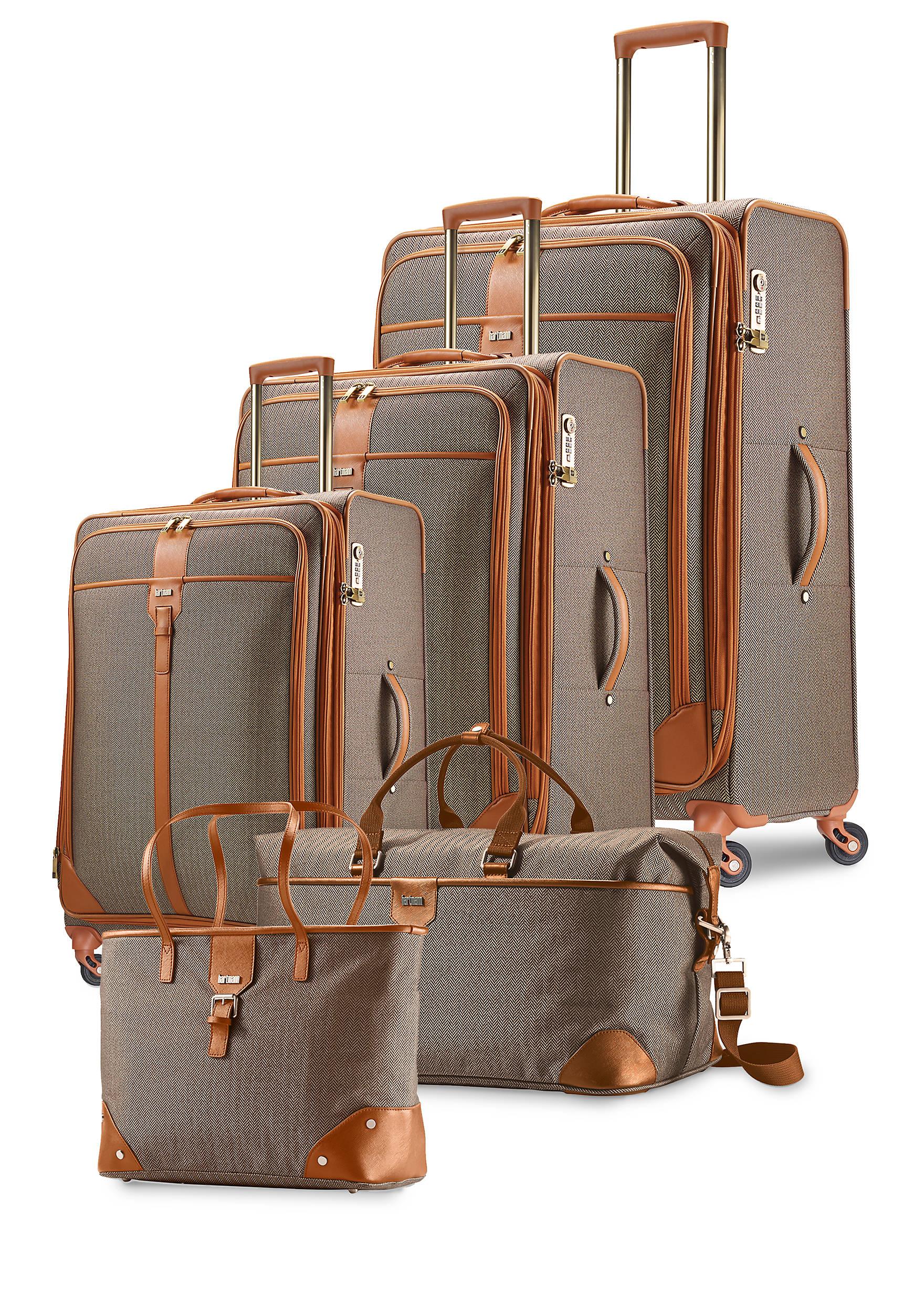 Hartmann Herringbone Luxe Luggage Collection Terracotta