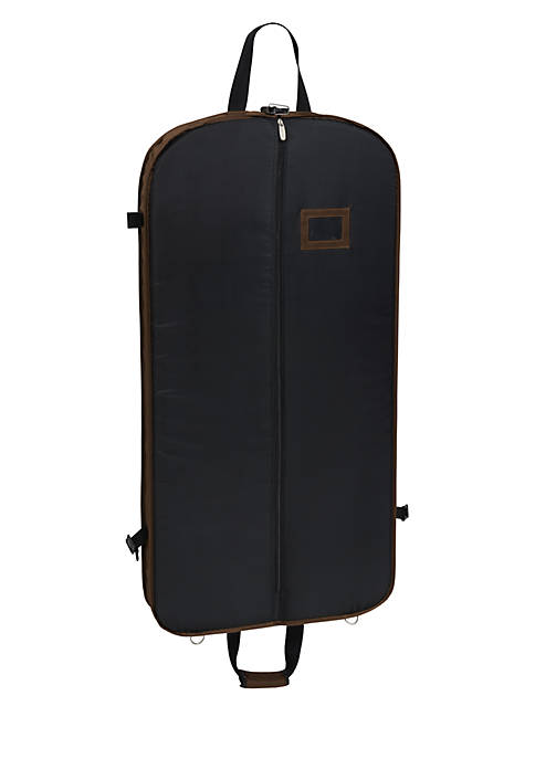 "WallyBags® 42"" Shoulder Strap Garment Bag- Brown"
