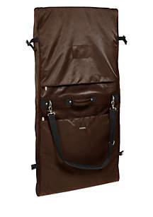 Shoulder Strap Garment Bag-Brown